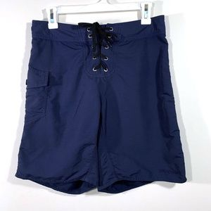 Patagonia | Navy Blue Tie Front Board Shorts